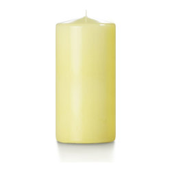 "Neo-Image Candlelight Ltd - Set of 6 - Yummi High Gloss Pillar Candles - 16 Colors, Buttercup Yellow, 3""x6"" - Our unscented 3""x6"" High Gloss Pillar Candles are ideal when creating a beautiful candlelight arrangement for the home or wedding decor.  Available in 7 trendy High Gloss candle colors hand over dipped with white core to match and compliment your home decor or wedding centerpiece decoration."