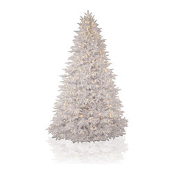 "Balsam Hill - 6.5' Balsam Hill Mt Washington White Pre-Lit Artificial Christmas Tree - The most stunning white artificial Christmas tree we've ever designed, the Mount Washington White tree looks stunning in your room and is very easy to set up. The 6.5 foot version of this pre-lit easy setup tree will sparkle and dazzle with its Clear warm glow lights. Also included with this tree is a scratch-proof tree stand, soft cotton gloves for shaping the tree, storage bag, extra bulbs and fuses, and an on/off foot pedal for lights. As the best artificial Christmas tree manufacturer that is the #1 choice for set designers for TV shows such as ""Ellen"" and ""The Today Show"", in addition to being a recipient of the Good Housekeeping Seal of Approval, our trees are backed by a 10-year foliage warranty and a 3-year light warranty. Free shipping when you buy today!"