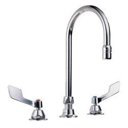 """Delta - 27T2944 Two Handle 8"""" Below Deck-Mount Faucet and Gooseneck Spout - Delta Commercial 27T2944 Two Handle 8"""" Below Deck-Mount Faucet and Gooseneck Spout in Chrome."""
