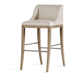 Jessica Charles - Metro Bar Stool - Raise the bar! This sleekly styled bar stool will add a shot of coolness wherever it sits. Sidle a few up to your home bar or place them around your kitchen island.