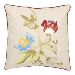 Safavieh Home Furniture - Multi and Cream 18-Inch Decorative Pillows Set of Two - - This 18-inch Cream Decorative Pillows (Set of 2) features a garden of leaves and blossoms in satin embroidery that creates a painterly work of botanical art for the home. With a cream background and accents of green red blue and yellow uses the finest blend of linen and cotton.   - Multi / CrFam  - Some assembly required - Yes  - Please note this item has a 30-day manufacturer's limited warranty that covers product defects. Inspect your purchase upon delivery and notify us immediately with any concerns. Safavieh Home Furniture - PIL800A-1818-SET2