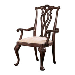 American Drew - American Drew Cherry Grove Pierced Back Arm Chair in Antique Cherry, Set of 2 - The 45th Anniversary Cherry Grove collection is a blending of new and old adaptations from 18th century and higher end traditional styling. Georgian, Edwardian, Sheraton along with Queen Anne elements create this beautiful assortment of furniture. Cathedral cherry veneers, alder solids and select hardwoods create a new and exciting collection of bedroom, dining room and occasional for American Drew. Cherry Grove Features: many new items that have been designed to fill the needs of your home along with many proven winners that have existed since the very beginning. Scale and dimensions have been addresses to better suit today? standard of living. Cherry Grove now offers you a variety of opportunities to complement multiple decorating environments. In the American Drew tradition, attention to detail and exquisite craftsmanship make every piece an heirloom. You will be investing in a timeless piece of furniture that will be cherished for generations to come.