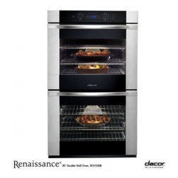 """Dacor - ROV230B Renaissance 30"""" Double Electric Wall Oven with 4.8 cu. ft. Four-Part Pur - Go ahead and expand your guest list because the Renaissance 30 Double Wall Oven offers you twice the capacity and flexibility to prepare the feast you never dreamed possible With 48 cubic feet of space in each oven you can cook your entres side dishe..."""
