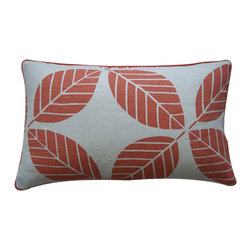 JITI - Small Tiki Coral Pillow - Bring fantastic foliage to your sofa or bed with this leaf print cotton pillow. A feather and down-filled insert ensures that this decorative pillow is plenty plump to keep you comfortable.