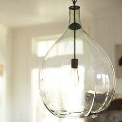 Clift Oversized Glass Pendant, Clear - For an organic touch, consider this stunning glass pendant. It would be a great option for a reading nook.