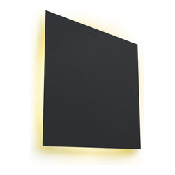 HEGER - Very Square light, Black, 12 X 12 - LED light fixture with minimalistic form. Materials are metal and LED lighting, UL tested.