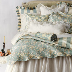 """Pine Cone Hill - Pine Cone Hill King Trellis Duvet Cover - New from Pine Cone Hill®, """"Trellis"""" sateen duvet covers and shams are offered in colors to coordinate with the charming """"Madeline"""" bed linens. All of machine-washable cotton. """"Madeline"""" floral quilts and standard shams have scalloped edges. Flo..."""