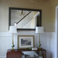 Eclectic Entry by Elizabeth Hagins Interior Design