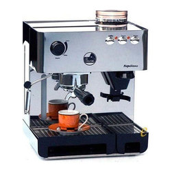Espresso Machines - This glossy stainless steel La Pavoni espresso making machine is built for durability. It required that the user switches it on and stops it manually since it is semi automatic. It comes equipped with a coffee grinder and therefore allowing the user to grind fresh coffee before making espresso.