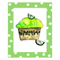 Oh How Cute Kids by Serena Bowman - Key Lime Cupcake, Ready To Hang Canvas Kid's Wall Decor, 11 X 14 - Each kid is unique in his/her own way, so why shouldn't their wall decor be as well! With our extensive selection of canvas wall art for kids, from princesses to spaceships, from cowboys to traveling girls, we'll help you find that perfect piece for your special one.  Or you can fill the entire room with our imaginative art; every canvas is part of a coordinated series, an easy way to provide a complete and unified look for any room.