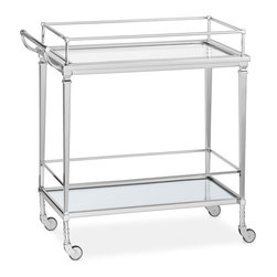 Cosmopolitan Bar Cart - There's something so glamorous about a bar cart. Use this one for drinks, or fill it with potted plants for a luxurious take on the kitchen herb garden.