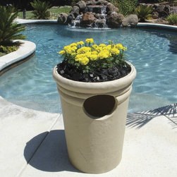 Garden and yard - When is the last time you saw a garbage can this beautiful?  With the Kutstone Trash Receptacle and it's optional bowl insert, you get discreet waste disposal for your outdoor space!