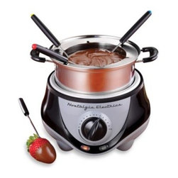 Nostalgia Electrics - Nostalgia Electrics Mini Stainless Steel Electric Fondue Pot - Make and serve delectable cheese dips and desserts with this Mini Stainless Steel Electric Fondue Pot from Nostalgia Electrics.