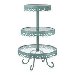 MIDWEST CBK - Blue Three Tier Stand - Blue Three Tier Stand. Shop home furnishings, decor, and accessories from Posh Urban Furnishings. Beautiful, stylish furniture and decor that will brighten your home instantly. Shop modern, traditional, vintage, and world designs.