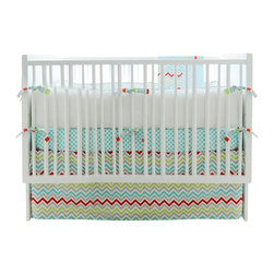 Jelly Bean Parade Crib Bedding Set 4 Piece Set - Jelly Bean Parade Crib Bedding Set 2 Piece Set
