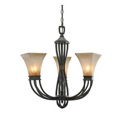 Golden Lighting - RT Gm3 Wrought Iron Three Light ChandelierOrigins Collection - Golden Lighting specializes in the design and manufacture of high quality residential lighting products and accessories.