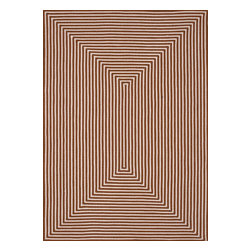 """Loloi Rugs - Loloi Rugs In/Out Collection - Orange, 5'-0"""" x 7'-6"""" - Hand-braided in China of 100% polypropylene, the In/Out collection offers a fun and simplistic look. This easy-to-place collection works nicely in an interior space or outdoors, and is available in an array of both neutral and vibrant colors."""