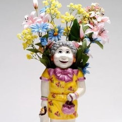 "ATD - 14 Inch Grandmother ""Sadie"" with Floral Clothes Themed Blossom Pot - This gorgeous 14 Inch Grandmother ""Sadie"" with Floral Clothes Themed Blossom Pot  has the finest details and highest quality you will find anywhere! 14 Inch Grandmother ""Sadie"" with Floral Clothes Themed Blossom Pot  is truly remarkable."