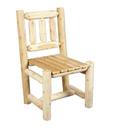 Rustic Natural Cedar - Rustic Natural Cedar 100003 Wooden Dining Chair - These attractive log-style dining chairs are smooth sanded for extra comfort and lasting beauty. They pair nicely with any Dining Room table in our fine cedar furnishings collection. The solid cedar construction ensures years of carefree use.