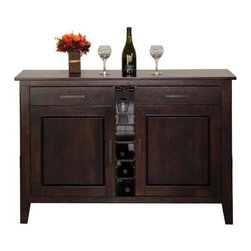 Winners Only - Santa Fe Wine Server in Espresso Finish - Two drawers and doors. Minimal assembly required. 52 in. W x 18 in. D x 36 in. H