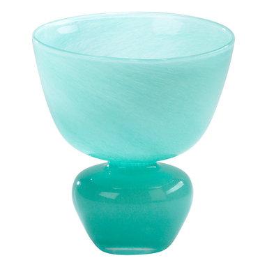 Cyan Design - Cyan Design Lighting 02380 Turquoise Bowl Vase - Cyan Design 02380 Turquoise Bowl Vase