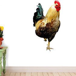 Wallmonkeys Wall Decals - Colorful Rooster Wall Decal - 18 Inches H, 60-Inch X 40-Inch - Easy to apply - simply peel and stick!