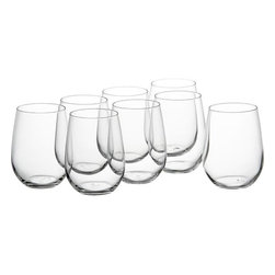 Stemless Wineglasses - I was inordinately excited to buy a set of wine glasses for myself when I moved into my first real apartment. It signified an end of drinking from red cups and a beginning of drinking red wine (not out of a box).