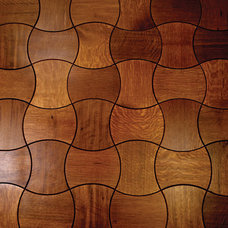 Interlocking Wood Floor Tiles for Parquet by Jamie Beckwith | Flooring