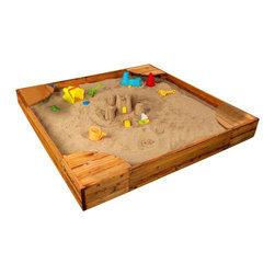 KidKraft - Kidkraft Backyard Sandbox, Honey - KidKraft Backyard SandboxThe Backyard Sandbox gives kids a perfect place to build sandcastles, dig for treasure and play with all of their favorite sand toys. Parents will love watching their kids have so much fun without even leaving the backyard. The corners double as convenient seating and large enough that multiple children can play at once. This sandbox includes a mesh cover for when playtime is over.