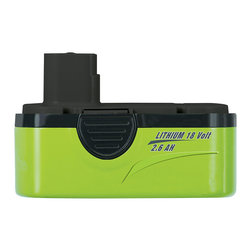 """Frontgate - Earthwise 2.6 AH Lithium Replacement Battery - Hardened steel blade with plastic blade guard. Lime green touch points for easier operation. Semi-transparent guard helps protect user from flying debris while trimming. Rubber grip over molded handle for secure handling. Auxiliary handle for additional grip security and better maneuverability. Shape up those shrubs and stay eco-friendly with our Earthwise 18V Lithium Battery Cordless Hedge Trimmer. This all-electric, cordless hedge trimmer has a 22"""" blade that cuts at 3,000 strokes per minute, giving you all the power you need to create perfectly manicured hedges every time. With the rechargeable lithium battery, you'll enjoy cord-free maneuverability without smelly fumes or costly gasoline and oil.  .  .  .  .  . Battery charger plugs into household wall outlet . 2.6 lithium replacement battery run time up to 60 mins. 1 hour fast charge capability. Includes 18V battery pack, battery charger, AC adapter, blade cover, and instruction manual. Imported."""