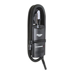 InterVac Design Corp. - GarageVac Flush Mounted Garage Vacuum - Black - Accessory kit included: 40' stretch hose, bare floor tool, upholstery brush, crevice tool, dashboard brush, telescoping wand, hose hanger. Long crevice tool