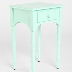 Spool Side Table, Mint - This little side/end table seems like a bargain for only $98!