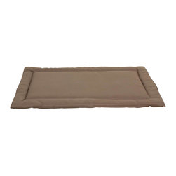 Carolina Pet Company - Brutus Tuff Napper, Khaki, 35 X 22 X 3 - Super tough for pets that are rough on their beds.  1200D Polyester fabric makes this the perfect bed for pets that like to scratch or chew.  Easy off zippered cover  for easy care.  Machine washable.  100% recycled high loft Polyester fill keeps pets off cold floors for added comfort and relief on hips, joints and pressure points.