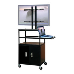 "VTI - VTI Adjustable Cabinet Cart for up to 47"" Flat Panel TV with Pull Out Shelf - VTI - TV Carts - FPCAB5434E"