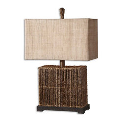 Barbuda Palm Branches Table Lamp