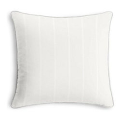 White Cotton Sateen Custom Throw Pillow - Black and white photos, Louis XIV chairs, crown molding: classic is always classy. So it is with this long-time decorator's favorite: the Corded Throw Pillow. We love it in this soft white lightweight cotton sateen with a beautiful luster and smooth finish.