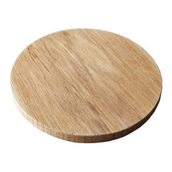 "PinkPianos - 12"" Rustic Pie Slab, White Oak Round - This cake round can be used for pies, cakes, tarts or whatever your entertaining needs might be!"