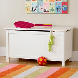White I'm Just a Toy Box - Nothing beats a classic, streamlined, white toy chest for any kids' space. Clean lines make this chest appropriate for both modern and traditional spaces.