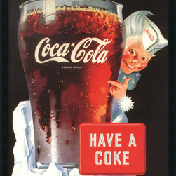 Amanti Art - Coca-Cola - Have A Coke Framed with Gel Coated Finish - Quench your thirst for vintage-style chic! This nostalgic Coca-Cola poster brightens any decor -from vintage-inspired to contemporary.