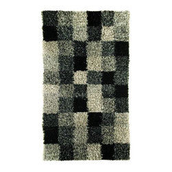 Mat-The-Basics - Bricks Rug by Mat-The-Basics - The building blocks for soft yet modern decor. The Mat-The-Basics Bricks Rug is a fluffy shag rug with contrasting squares of hand-woven wool, polyester and viscose. A range of colorways and sizes will allow you to bring some geometric plushness into any bedroom or living room. Mat-The-Basics has pioneered a new type of carpet - refined, handmade rugs that combine innovative design with a dedication to the highest standards of craftsmanship. These carpets, inspired from contemporary shapes and colors, are created using the traditional techniques of skilled weavers including hand-tufting, hand-weaving and hand-knotting methods.