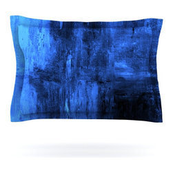 """Kess InHouse - CarolLynn Tice """"Deep Sea"""" Blue Pillow Sham (Cotton, 30"""" x 20"""") - Pairing your already chic duvet cover with playful pillow shams is the perfect way to tie your bedroom together. There are endless possibilities to feed your artistic palette with these imaginative pillow shams. It will looks so elegant you won't want ruin the masterpiece you have created when you go to bed. Not only are these pillow shams nice to look at they are also made from a high quality cotton blend. They are so soft that they will elevate your sleep up to level that is beyond Cloud 9. We always print our goods with the highest quality printing process in order to maintain the integrity of the art that you are adeptly displaying. This means that you won't have to worry about your art fading or your sham loosing it's freshness."""
