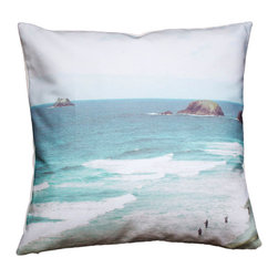 Plumed - Fisherman's Cove Photography Pillow - The photography pillow line at Plumed is inspired by a love of both travel and landscape. Each pillow cover features an image from our personal collection. We love the modern-vintage feel of the muted and subdued tones that are a signature to this line. We hope that these pillows will inspire some serious daydreaming. Designed by Christine Dinsmore.