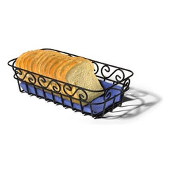Spectrum Diversified Designs - Scroll Bread Basket - The decorative Scroll Bread Basket makes a nice serving piece to any kitchen table or restaurant. This basket is ideal for holding and serving bread, rolls and muffins. Made of sturdy steel, the beautiful scroll design will add a traditional touch to your home.