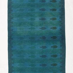 Cerulean Sea Rug The Deeply Saturated Color On This Rug