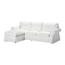 IKEA of Sweden - Ektorp Love Seat and Chaise Lounge, Blekinge White - Living in a studio does not mean you can't have a sofa. Having a traditional sofa, though, means that you rarely have space for additional chairs or a chaise. Why not choose an L-shaped sofa? You can lounge, nap or simply sit.