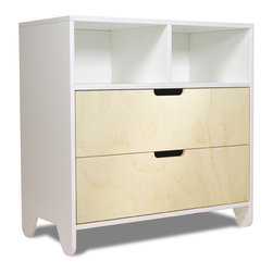 Spot on Square - Hiya Dresser, Birch Drawers - Designed by Bob Springer, part of the Spot on Square Hiya Collection. Meets or exceeds US mandatory and voluntary safety standards developed by the ASTM (American Society for Testing and Materials).