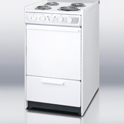 """Summit - Professional Series WEM115R 20"""" Slide-In Electric Range with 2.46 cu. ft. Oven C - SUMMIT PROFESSIONAL brings a classic design to apartment sized ranges with their 20 and 24 inch models These models are all made in the USA and have much larger ovens than many competing products Their ovens are fully porcelain coated for easier clea..."""