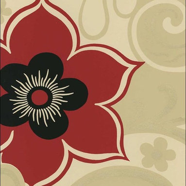 Savoy Shand Kydd Wallpaper - Floral wallpaper isn't just for grandma anymore. Make your wall modern with this bold pattern from Shand Kydd at American Blinds and Wallpaper.
