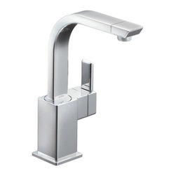Moen - Moen S5170 Single Handle High Arc Bar Faucet - With its ultra-contemporary styling, the 90 Degree collection brings a sharp, clean look to the home.