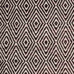Hook & Loom Rug Company - Ashford Brown/Natural Rug - Very eco-friendly rug, hand-woven with yarns spun from 100% recycled fiber.  Color comes from the original textiles, so no dyes are used in the making of this rug.  Made in India.